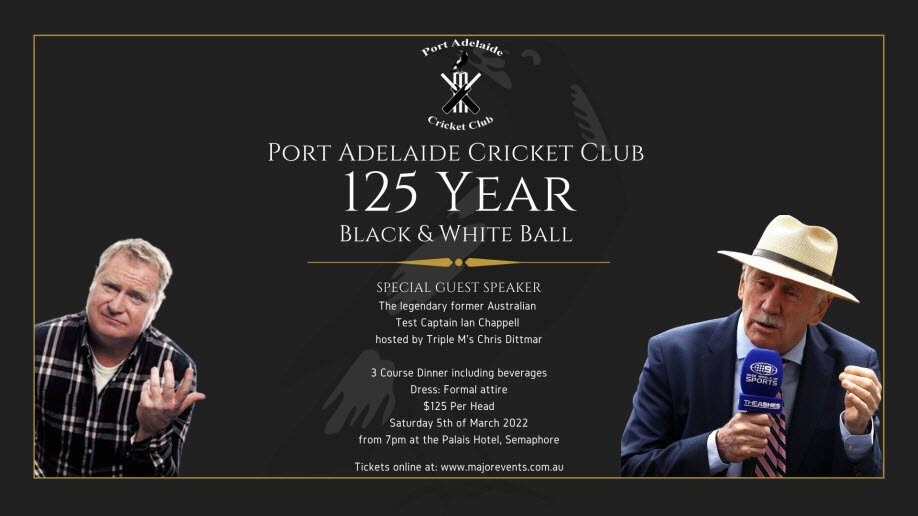 Port Adelaide Cricket Club 125 Year Black and White Ball