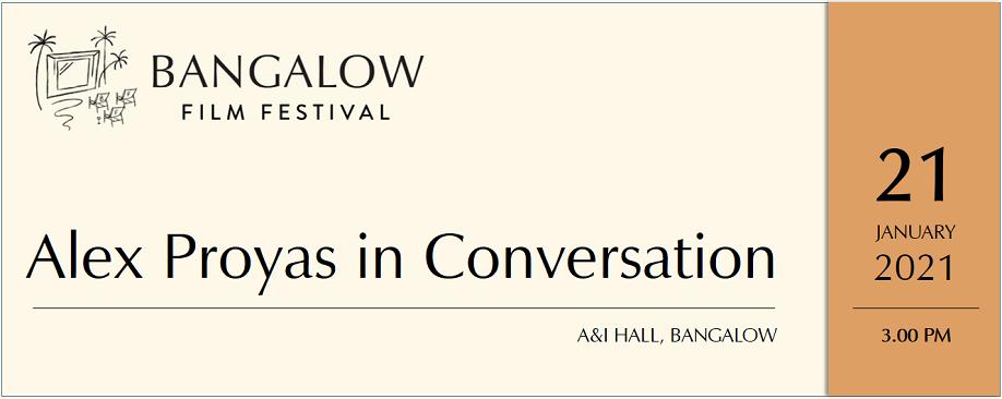 ALEX PROYAS in Conversation