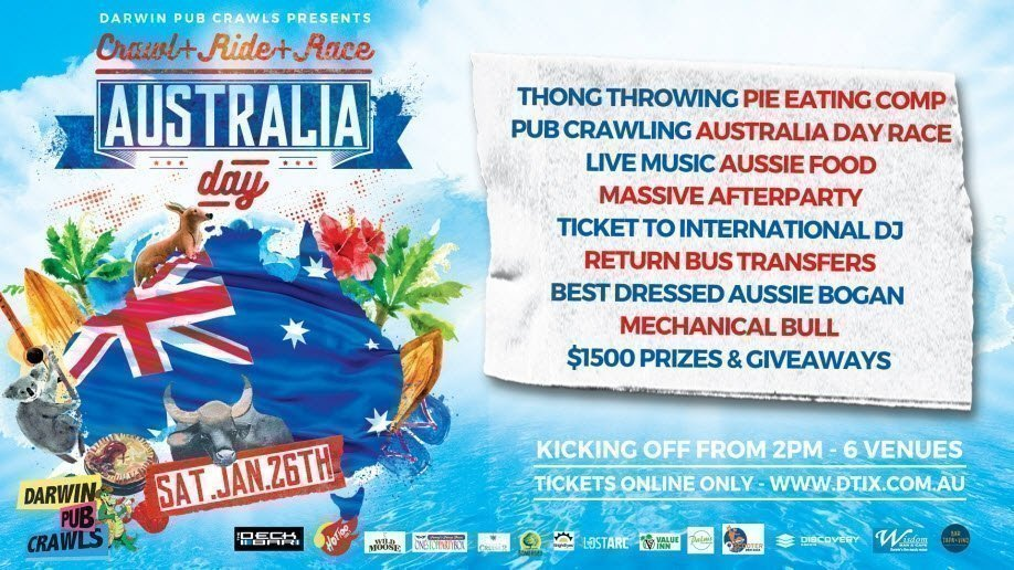 Australia Day 2019 Pub Crawl: Crawl + Ride + Race