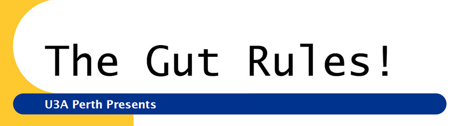 Free Public Lecture: 'The Gut Rules' presented by: Jille Burns