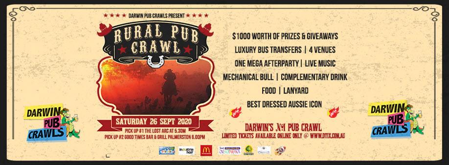 Darwin Pub Crawls Presents Rural Pub Crawl