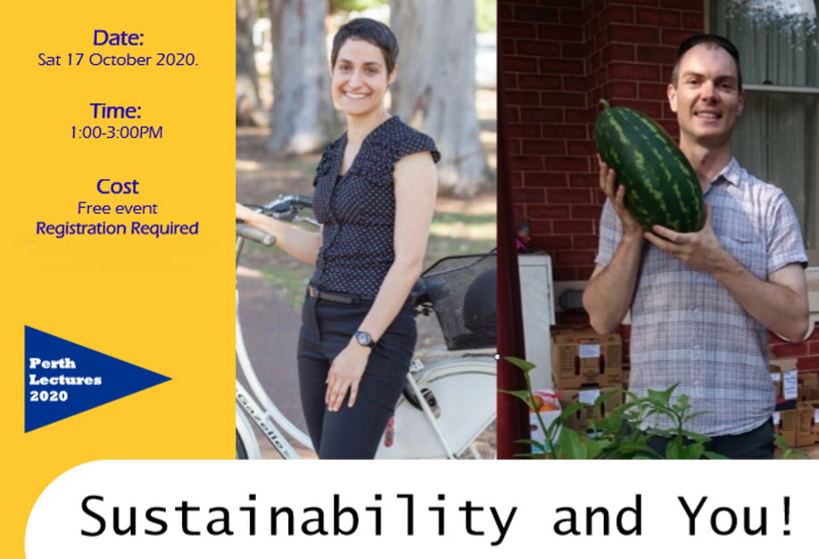 """""""Sustainability and You!"""" presented by Dr Jane Genovese & Dr Peter Langlands"""