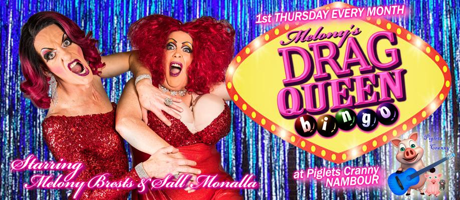 Melony's Drag Queen Bingo @ Piglets Cranny: August 2020