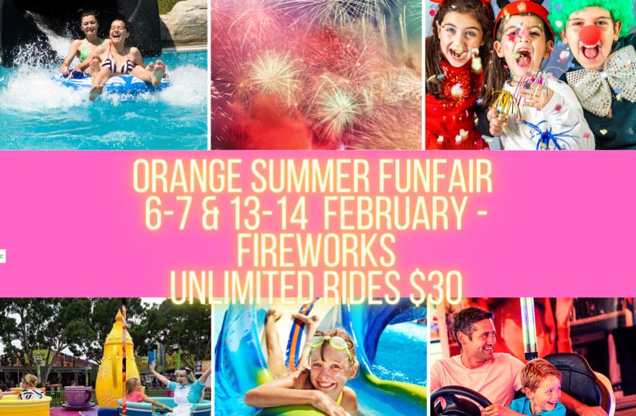 Orange FunFair Summer Splash | SUNDAY 14 FEBRUARY 2021
