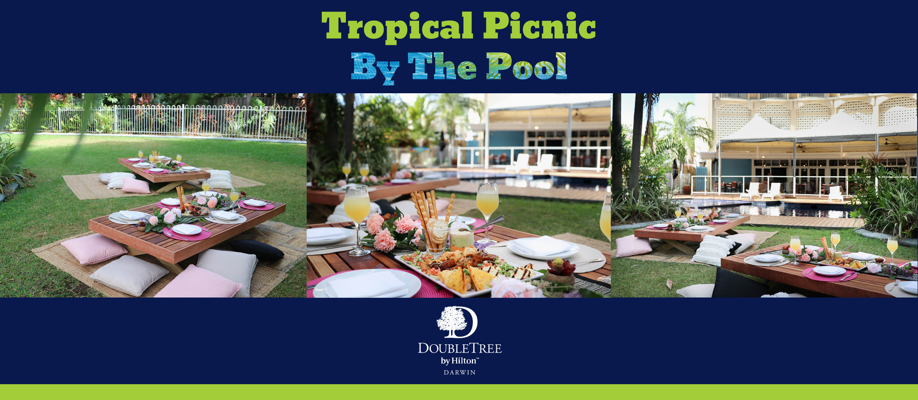 Tropical Picnic by the Pool