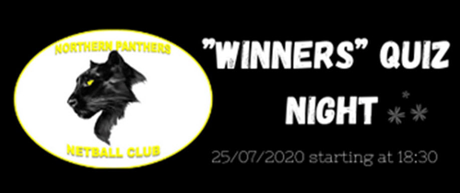 "Northern Panthers ""WINNERS"" Quiz Night"