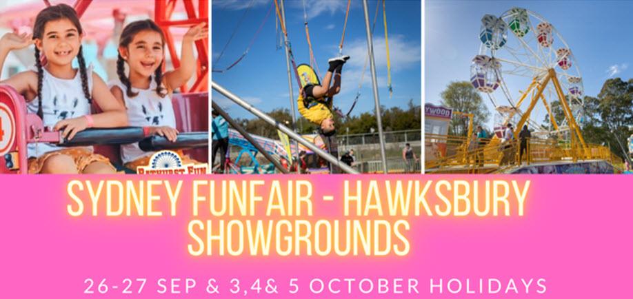 Sydney Fun Fair | Hawkesbury Showgrounds | MONDAY 5 OCTOBER