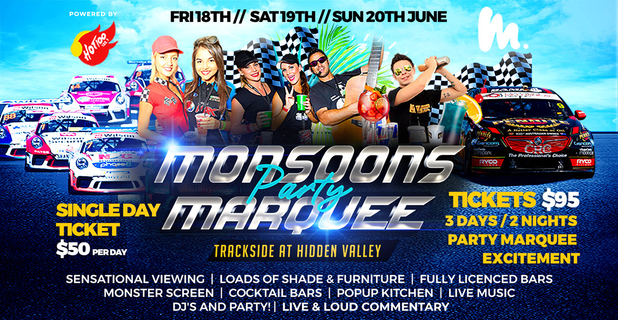 Monsoons Party Marquee at Darwin Supercars