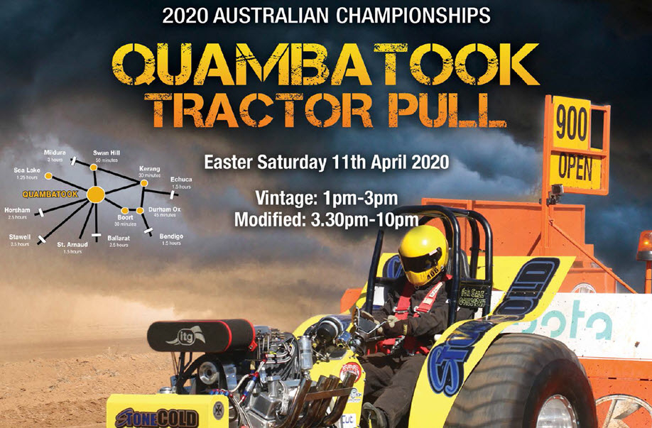 Quambatook Tractor Pull - 44th Australian Tractor Pull Championship 2020