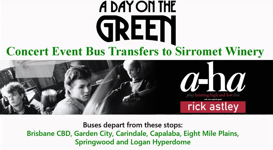 A Day on the Green with a-ha special guest Rick Astley Bus Transfers