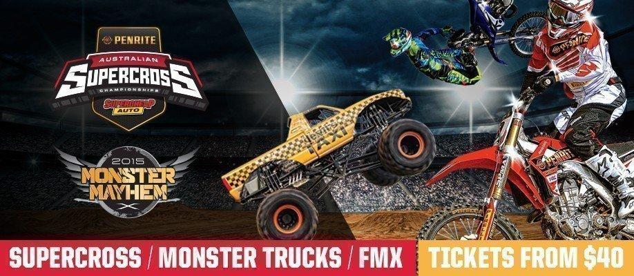 Round 6 Melbourne: Australian Supercross Championship & Monster Truck Mayhem