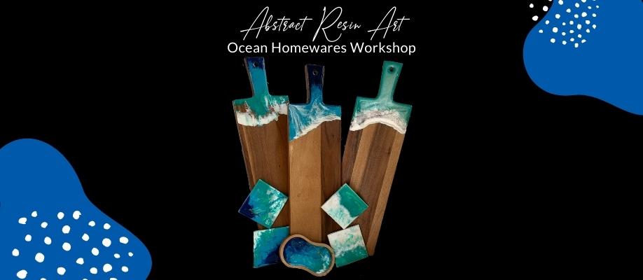 Abstract Resin Art - Ocean Homewares Workshop