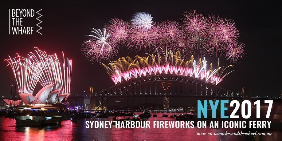 NYE 2017 Sydney Harbour 9pm Fireworks: Departing Rose Bay Wharf