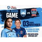 Westfield W-League Pre-Season Match Sydney FC vs Newcastle Jets