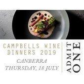 Campbells Canberra Wine Dinner