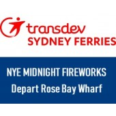 NYE 2019 Sydney Harbour Midnight Fireworks - Departing Rose Bay Wharf