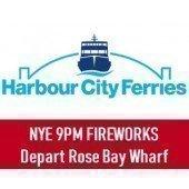 NYE 2018 Sydney Harbour 9pm Fireworks: Departing Rose Bay Wharf