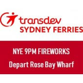 NYE 2019 Sydney Harbour 9pm Fireworks: Departing Rose Bay Wharf