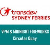 NYE 2019 Sydney Harbour 9pm and Midnight Fireworks - At Circular Quay