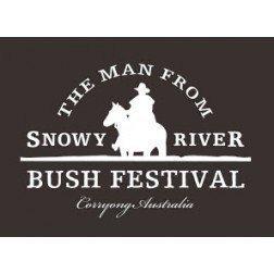 Man from Snowy River Bush Festival Logo