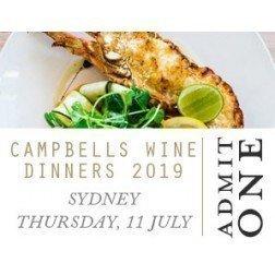 Campbells Sydney Wine Dinner