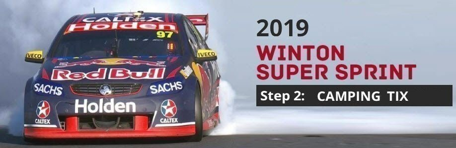 Winton SuperSprint 2019: CAMPING TICKETS // Winton Members, Teams & Officials