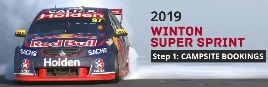Winton SuperSprint 2019: CAMPSITE BOOKINGS