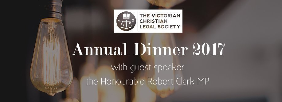 CHRISTIAN LEGAL DINNER - ANNUAL DINNER 2017
