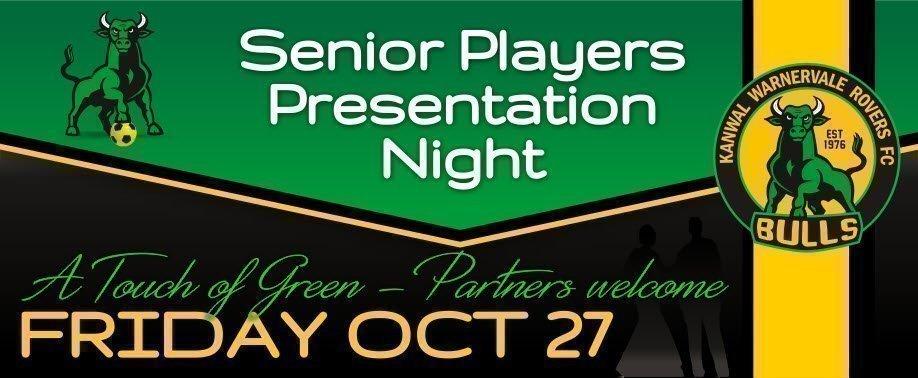 2017 Senior Players Presentation Night