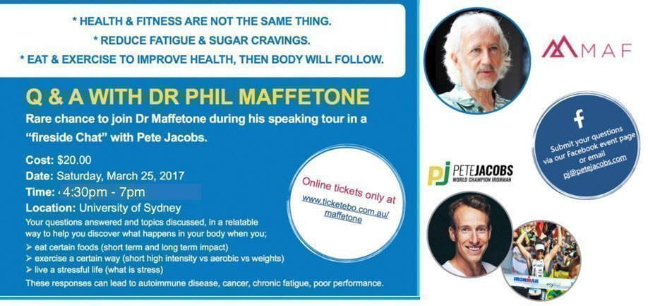 Q & A with Dr Phil Maffetone, hosted by Pete Jacobs
