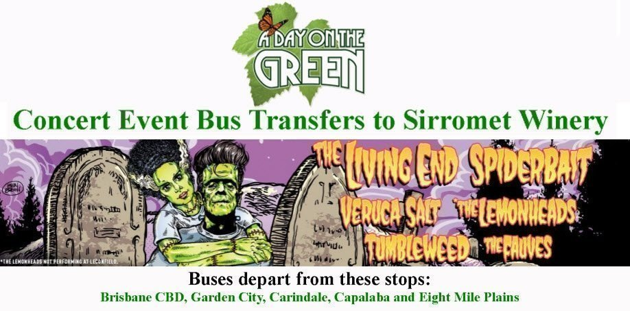 A Day on the Green Almighty Monster Line-up Bus Transfers: Sunday 25 February 2018