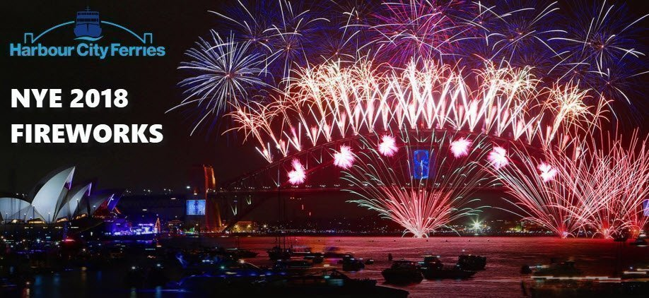 NYE 2018 Sydney Harbour of Lights 9pm & Midnight Fireworks: Emerald 2 Depart Circular Quay