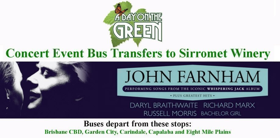 A Day on the Green with John Farnham Bus Transfers: Sunday 2 December 2018