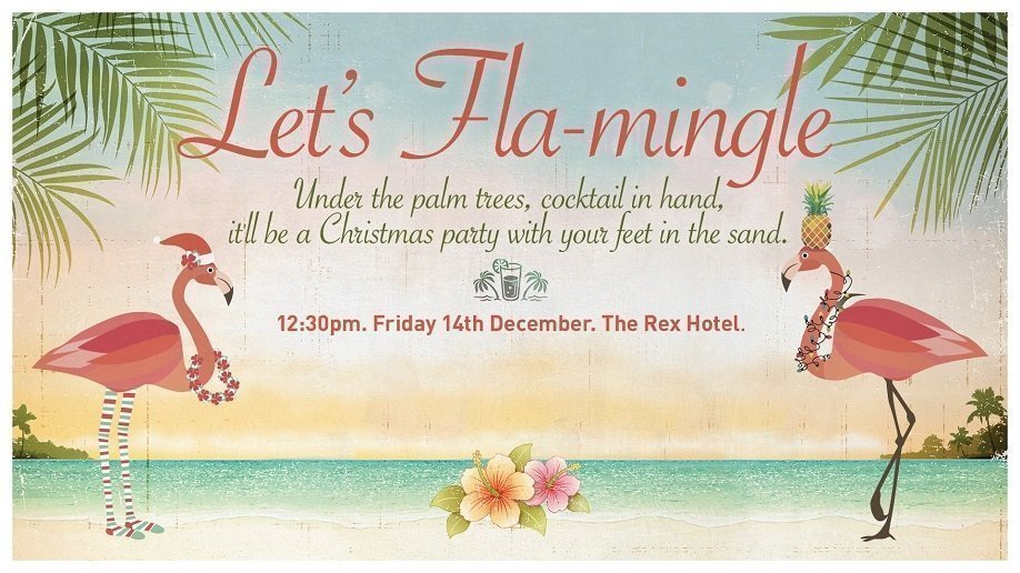 Dept. of Infrastructure, Regional Development and Cities Christmas Party: Let's Flamingle 2018