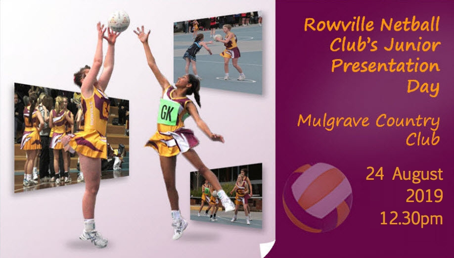 Rowville Netball Clubs Juniors Presentation Day 2019