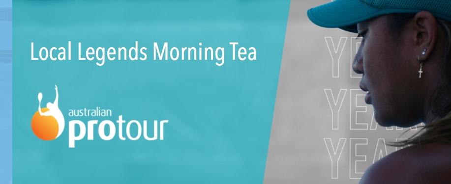 Cairns Tennis International Pro Tour Local Legends Morning Tea