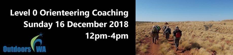 Level 0 Orienteering Coach Training - SUN 16 DEC