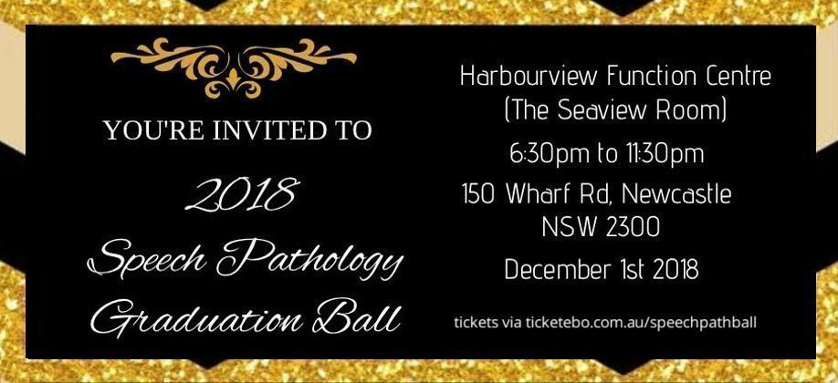 Speech Pathology Ball 2018