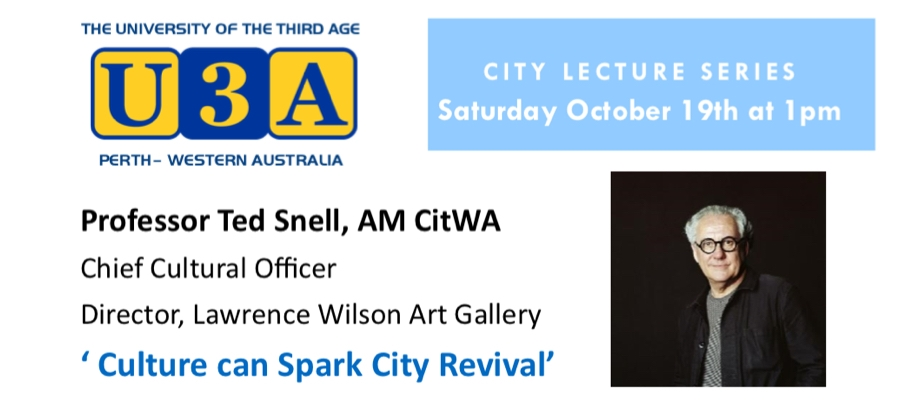 Free Public Lecture: 'Culture can Spark City Revival'
