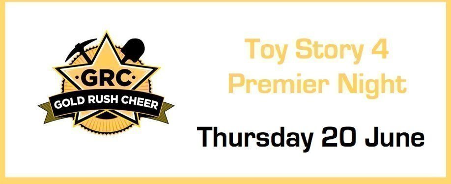 Gold Rush Cheer Toy Story 4 Cinema Premier Viewing