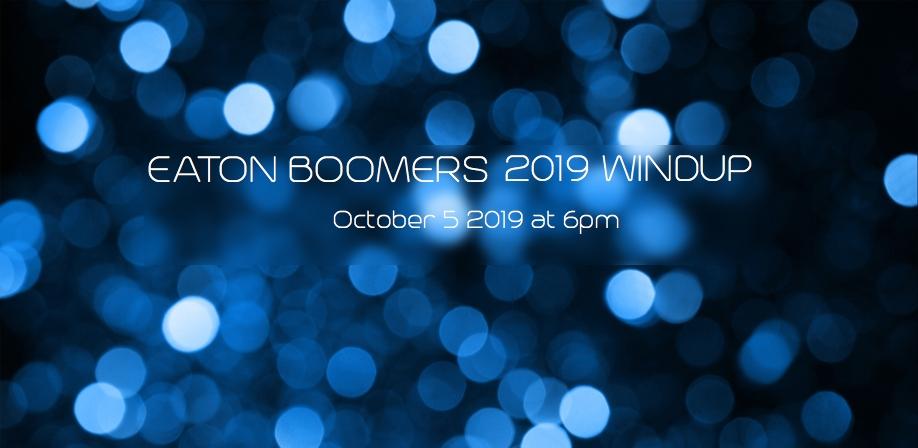 Eaton Boomers 2019 Windup