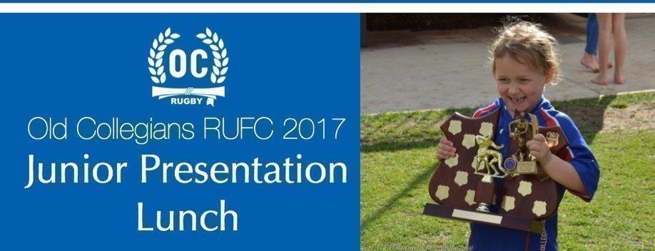 Old Collegians RUFC 2017 Junior Presentation Lunch