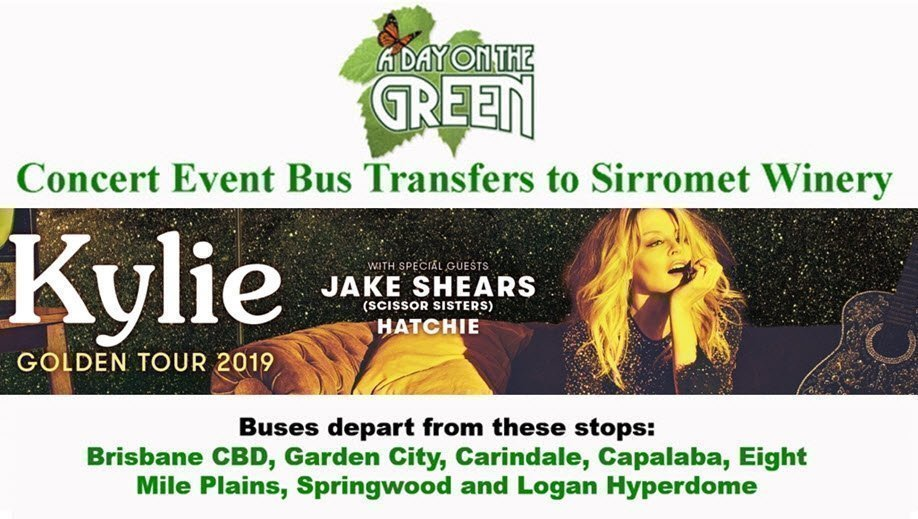 A Day on the Green with Iconic Pop Princess Kylie Minogue Bus Transfers