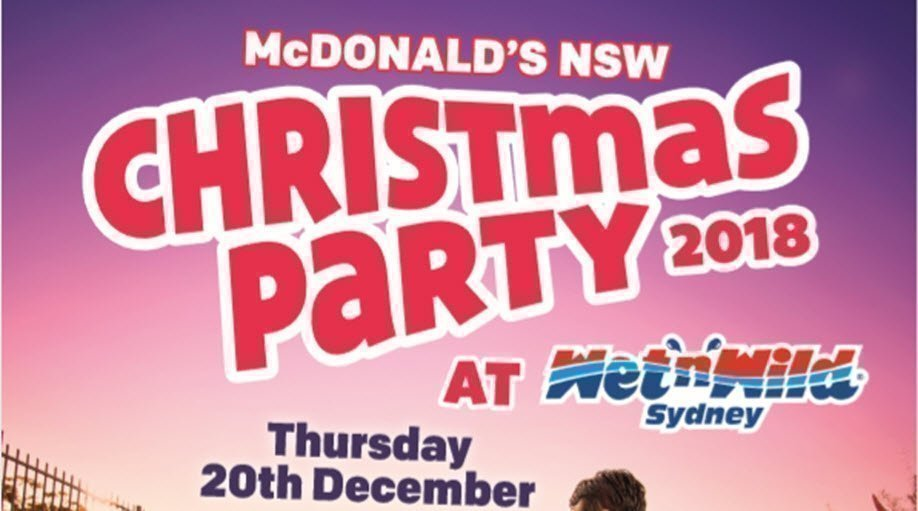 McDonald's NSW Christmas Party 2018