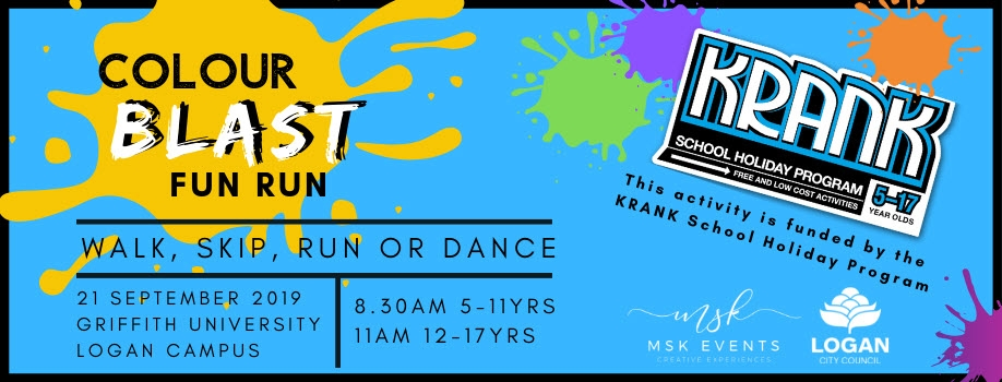 Colour Blast Fun Run – KRANK School Holiday Program