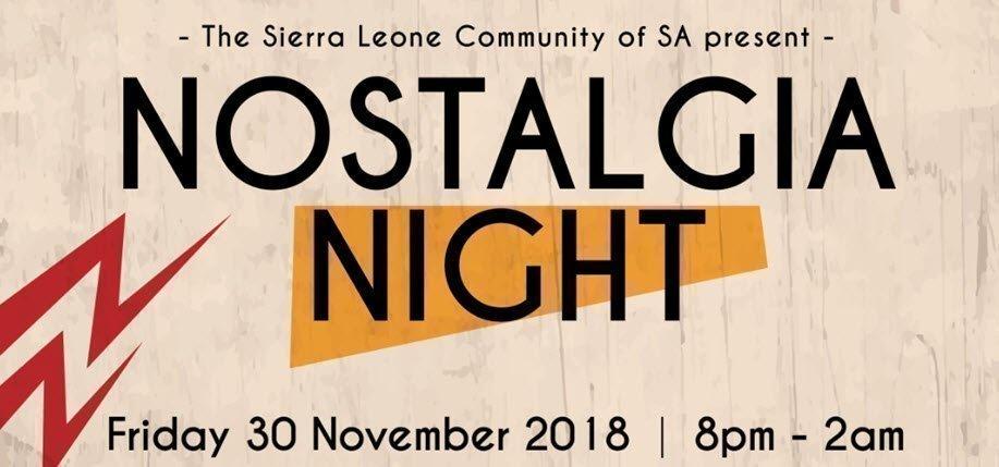 Nostalgia Night 2018
