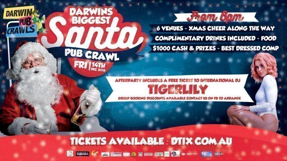 Darwin's Biggest Santa Pub Crawl