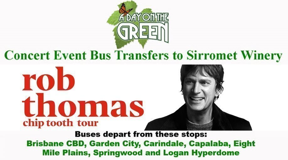 A Day on the Green with Rob Thomas - Chip Tooth Tour Bus Transfers