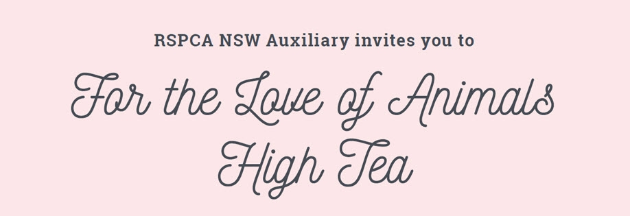 RSPCA NSW Auxiliary - For the Love of Animals High Tea