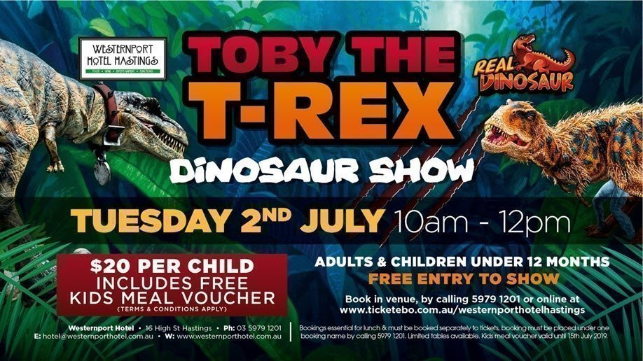 Toby The T-Rex Dinosaur Show